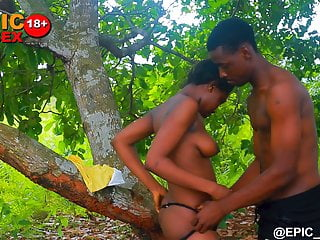 Ebony outdoors sex experience...