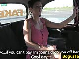 British babe pussyfucked during taxi ride