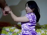 Asian hot mature fucked by her white lover