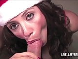 Ariella Ferrera gives happy holidays POV blowjob
