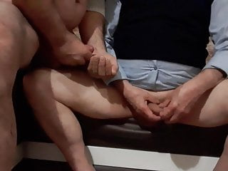 Me and My Turkish grandpa Friend Mutual Cum part 1
