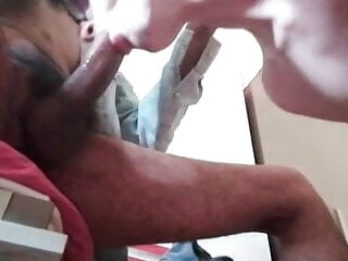 I suck my first black cock