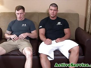 Military hunk bareback assfucking tight ass