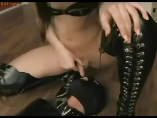 Slave swallow and cum nohand...