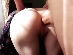 Russian Amateur Teen Gets Painful Anal Creampie