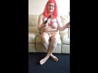 BBW Plays with Dildo and Wand Preview