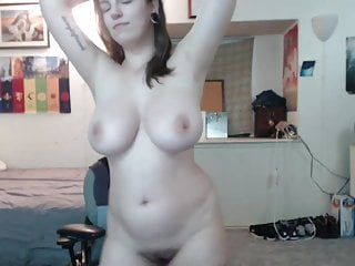 Big tits busty emo cam girl with piercing...