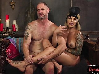 transgender pleasuring beauty Bigtitted stud