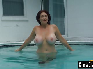 Teasing with big tit milf charlee chase...