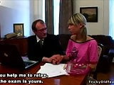 Tricky Old Teacher - Cute skinny blonde