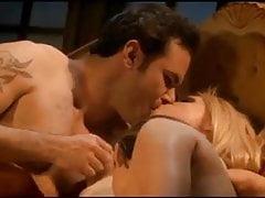 Busty blonde slut and Filipina whore have hot FFM threesome