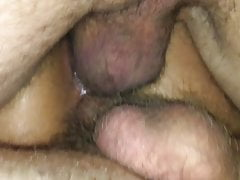 Her First Creampie Gangbang, we all cum in her asian pussy!