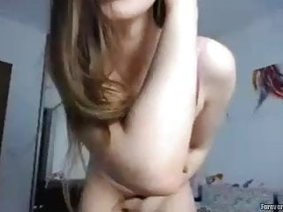 Puffy Boob Teen Caught On Her Webcam