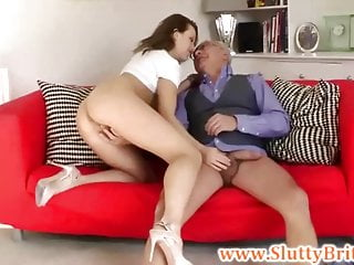 Young british slut fingered by old sir