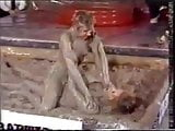 Liz Mud wrestling