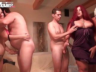 Funmovies chubby slut and girlfriend gangbang...