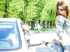 European Slut Picked up and Fucked