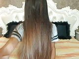 Very Sexy Brunette HairPlay, Long Hair, Hair