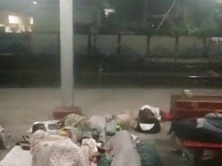 Indian in rail station