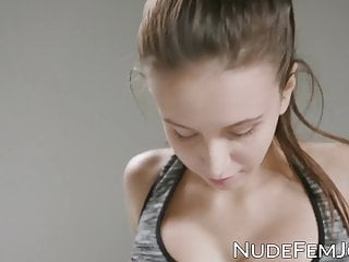 Busty young beauty while topless...