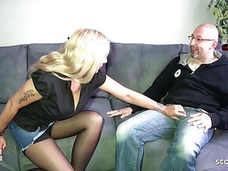 German mom seduce of her daughter to fuck...