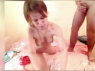 Petite fucked with and anal dildo