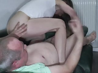 Smoking slut has her vagina fisted, then sucks a cock