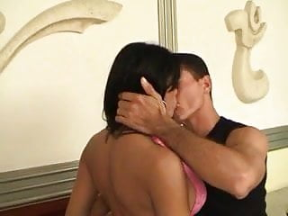 Tranny rides cock in her bum