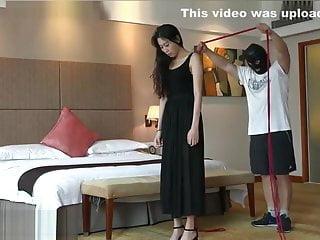 Chinese maxi dress bondage...