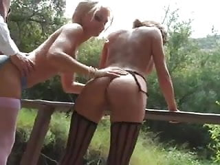Papa-Sexy Threesome in The Countryside