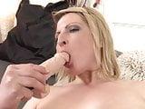 Amateur chubby mom feeding her pussy
