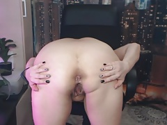 My depraved mature bitch plays with her asshole in private.