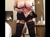 Sexy granny big tits playing with my little pink vibe