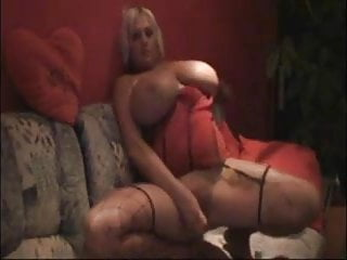 BBW big tits dildo play!