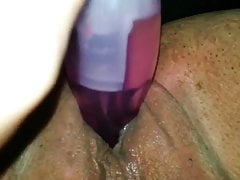 Deep dildo fuck brings MILF to orgasm. ChubbyGusherGal