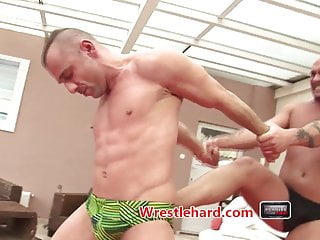 Rough wrestlehard gay wrestling punishment fuck...