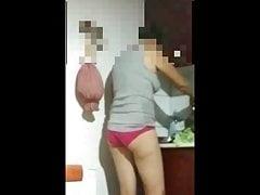 mom Jelena in panties