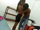 Teen couple making love