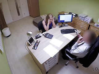 Bad agent fucks good student girl and approves her documents