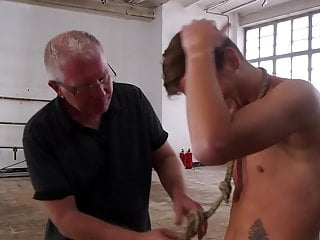 Tortures restrained sub twink with clamps...