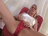 Ash in satin panties