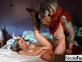 Hunter Nicole Aniston captures a Minotaur and Milks him