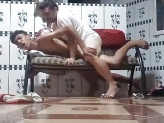 Young boy getting fucked by old uncle