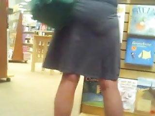Mature Teacher at Book Store gets an uppie