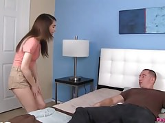 Teen Gets Her Fleshy Wet Pussy Ripped By A Big Cock