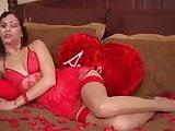 red lingerie joi