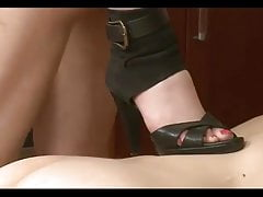 Swingers couple and slave