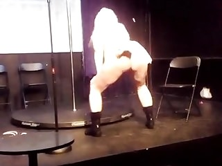 Topless dancer and singer nyc talent show...