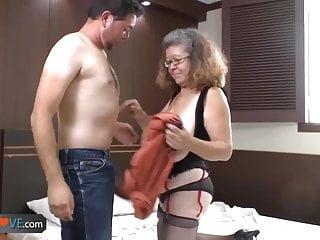 Agedlove nice older brunette is enjoying young man...