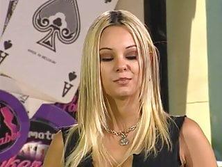 Super blonde carmen luvana poker striptease...